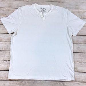 Lucky Brand White Button Collar T Shirt
